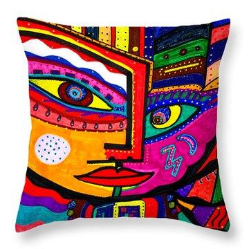 You Move Me - Face - Abstract Throw Pillow