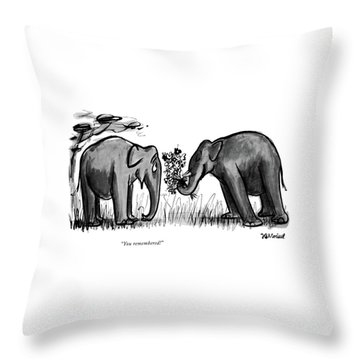 You Remembered Throw Pillow
