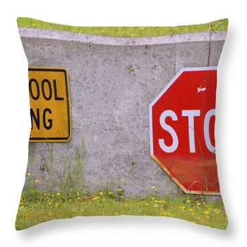 You Said Stop Throw Pillow by Kym Backland