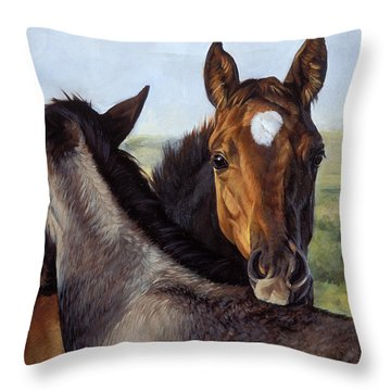 You Scratch Mine Throw Pillow by JQ Licensing