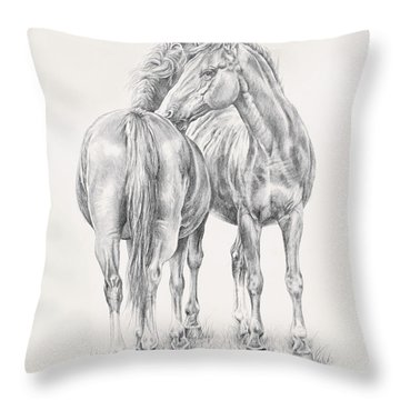 You Scratch My Back I'll Scratch Yours Throw Pillow