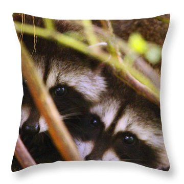You Think She Can See Us? Throw Pillow