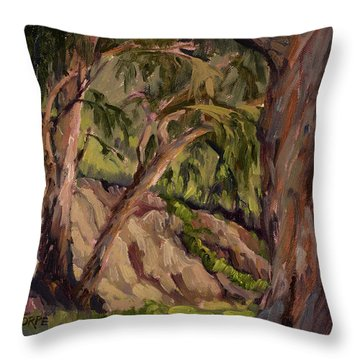 Young And Old Eucalyptus Throw Pillow by Jane Thorpe