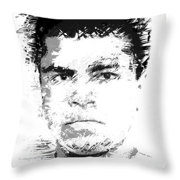 Young Cassius Clay Throw Pillow by Daniel Hagerman