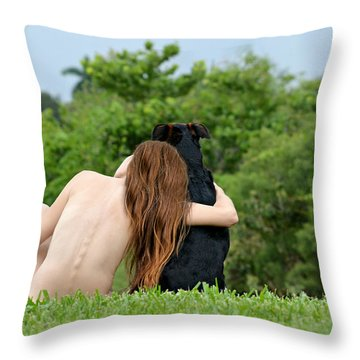Young Earth Throw Pillow by Laura Fasulo