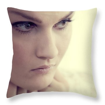 Young Elegant Woman In Glamour Fashion Throw Pillow by Michal Bednarek