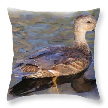 Young Female Mallard Throw Pillow