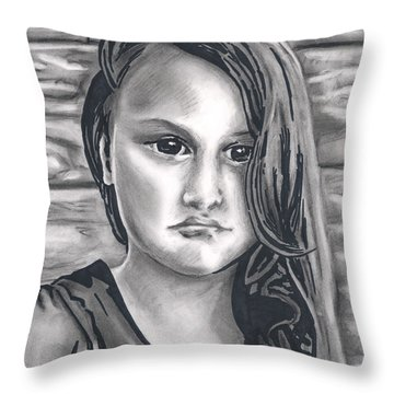 Young Girl- Shan Peck Contest Throw Pillow by Samantha Geernaert