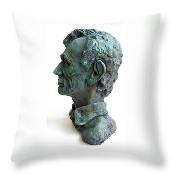 Young Lincoln -sculpture Throw Pillow by Derrick Higgins