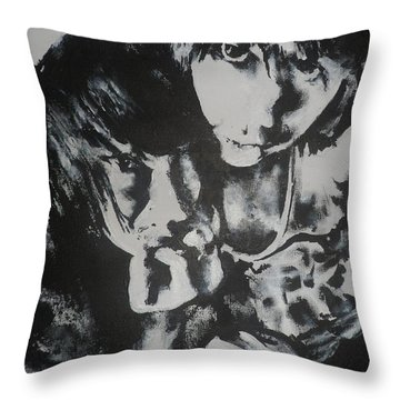 Young Lovers Throw Pillow by Cherise Foster