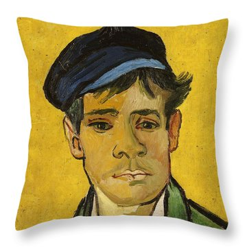 Young Man With A Hat Throw Pillow by Vincent Van Gogh
