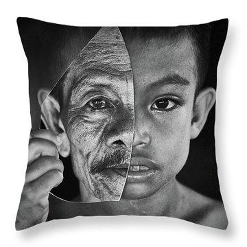 Family Portrait Throw Pillows