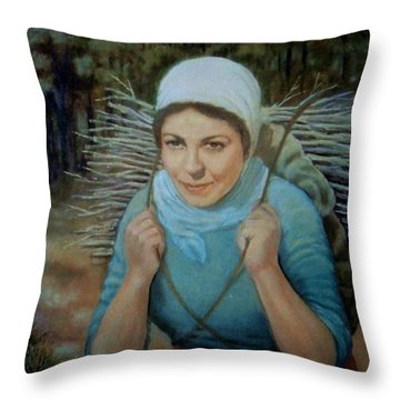 Young Farmer Throw Pillow