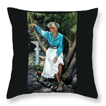 Young Self Portrait Throw Pillow