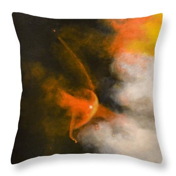 Young Star Bow Shock Near L.l. Ori Throw Pillow by Jim Ellis