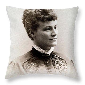 Young Woman, C1900 Throw Pillow