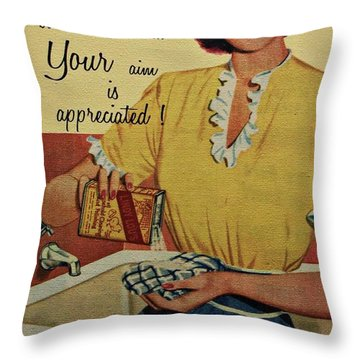 Your Aim Is Appreciated Throw Pillow by Movie Poster Prints