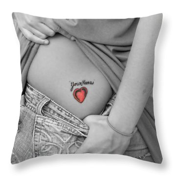 Your Name Throw Pillow by Kristie  Bonnewell