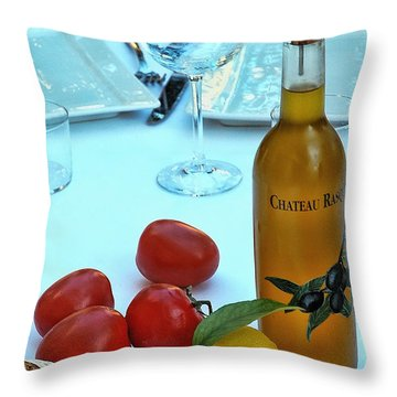 Throw Pillow featuring the photograph Your Table Is Ready by Allen Beatty