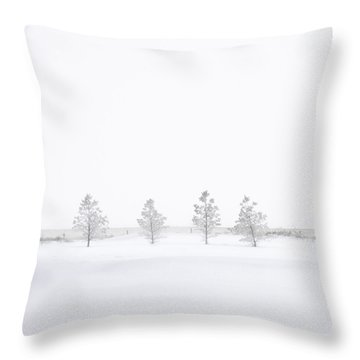 You're Hardly There Throw Pillow