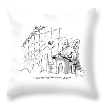 You're Kidding!  You Count S.a.t.s? Throw Pillow