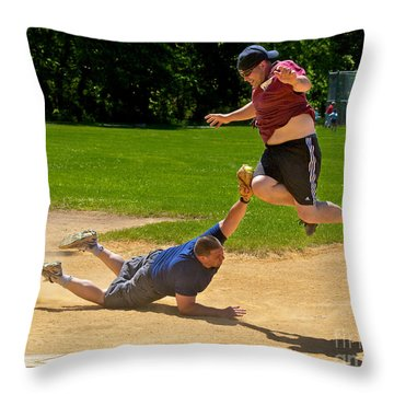 You're Out Throw Pillow