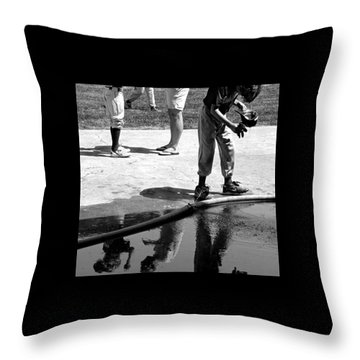 Youth Baseball 1 Throw Pillow by David Gilbert