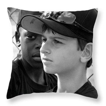 Youth Baseball 3 Throw Pillow