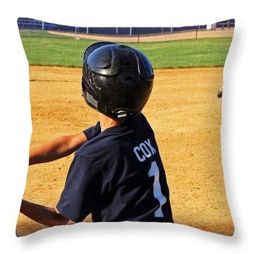 Youth Baseball Throw Pillow by David Gilbert