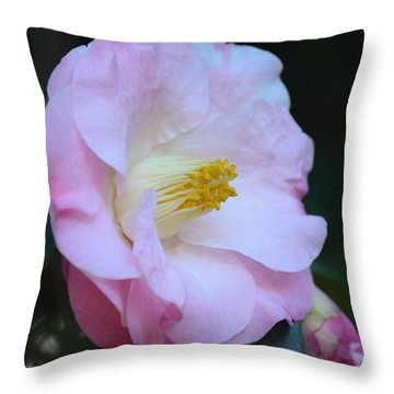 Youthful Camelia Throw Pillow by Maria Urso