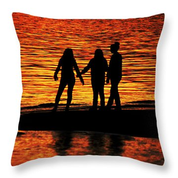 Throw Pillow featuring the photograph Youthful Friendships by Ola Allen
