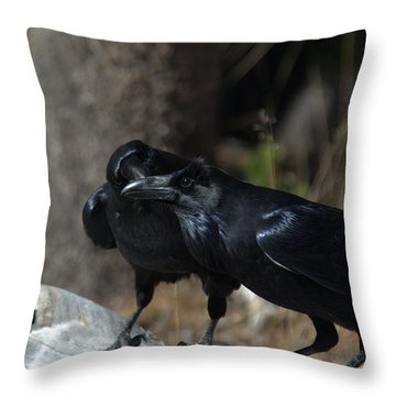 You've Got Something On Your Beak Throw Pillow