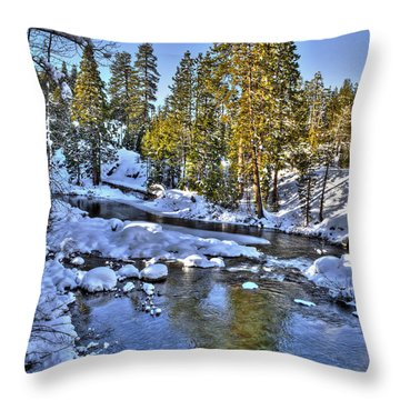 Yuba River Kingvale Lakes Throw Pillow