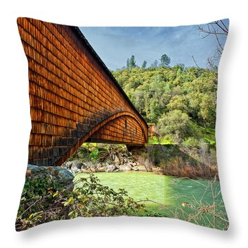 Throw Pillow featuring the photograph Yuba State Park by Jim Thompson