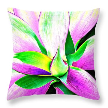 Yucca Abstract Throw Pillow