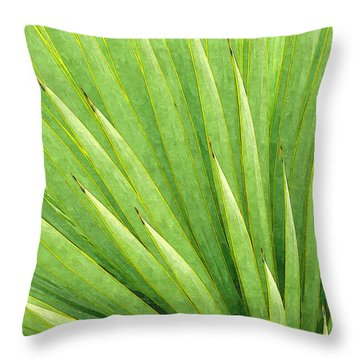 Yucca Abstract Throw Pillow by Ram Vasudev