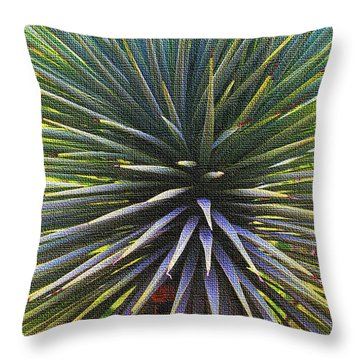 Yucca At The Arboretum Throw Pillow by Tom Janca