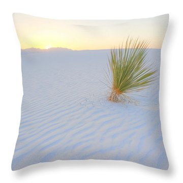 Throw Pillow featuring the photograph Yucca Plant At White Sands by Alan Vance Ley