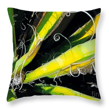 Yucca Spirals Throw Pillow