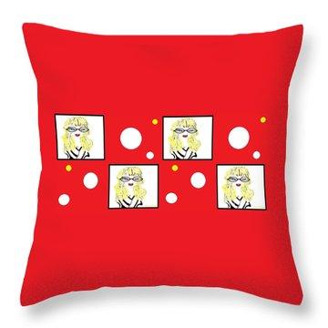 Throw Pillow featuring the digital art Yuk by Ann Calvo