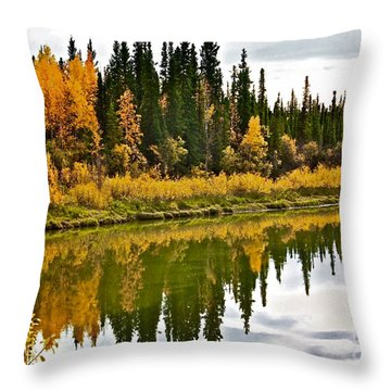 Yukon Autumn Throw Pillow