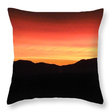 Yukon Gold And Crimson Throw Pillow by Brian Boyle