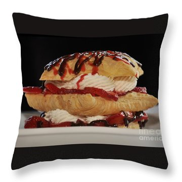 Yum Throw Pillow by Debby Pueschel