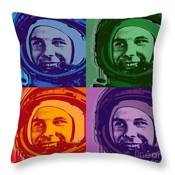 Yuri Gagarin  Throw Pillow by Jean luc Comperat