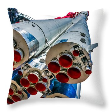 Yuri Gagarin's Spacecraft Vostok-1 - 5 Throw Pillow