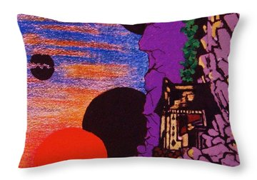 Yuyake Tsuka No Shutsu Throw Pillow by Roberto Prusso