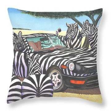 Z-car Throw Pillow