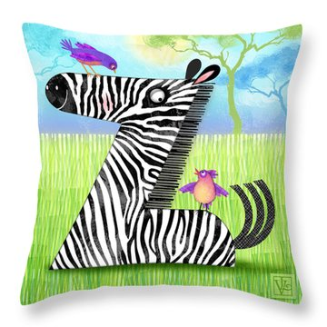 Z Is For Zebra Throw Pillow