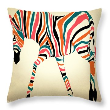 z Throw Pillow by Mark Ashkenazi