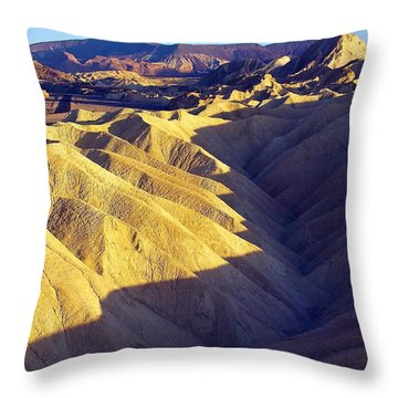 Throw Pillow featuring the photograph Zabriski Point #2 by Stuart Litoff